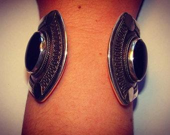 Pulsera en Plata 9.25 y Onyx/ Handmade Silver 9.25 and Onyx Bracelet