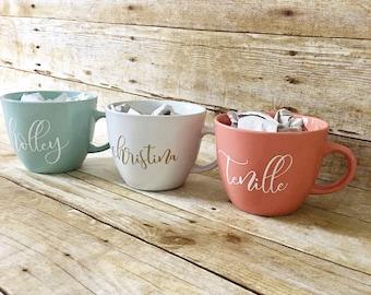 Personalized Coffee Mug, Name Mug, Maid of Honor Gift, Bridesmaid Gift, Personalized Gift, Coffee Mug, Tea Mug