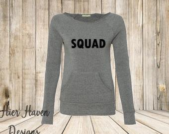 Squad goals wideneck eco sweatshirt