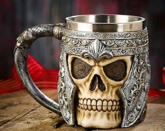 Skull Warrior Tankard Viking Mug