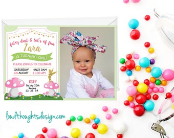 Tinker Bell Invitation, Tinker Bell Party, First Birthday Invitation, First Birthday Invite, Printable, Digital Invite