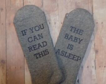 Baby Is Asleep Socks