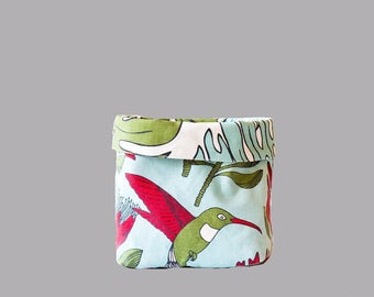 Fabric Bucket - Protea Blue & Delicious Monster Small