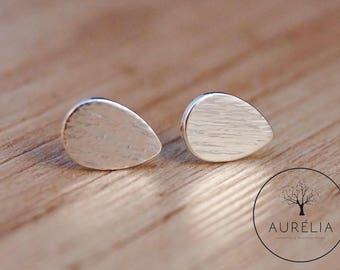 """Silver plated ear studs """"drops"""""""