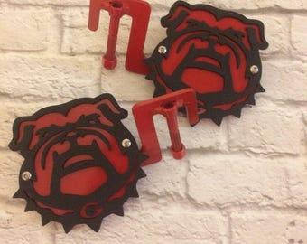 Bulldog head two-layer footpegs
