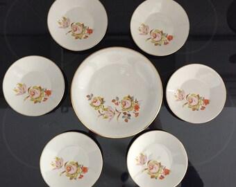 Monopoli pastries tableware retro floral roses vintage tableware for serving cake flowers roses