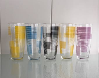 5x MDL glasses fifties sixties glasses retro vintage glazen mdl