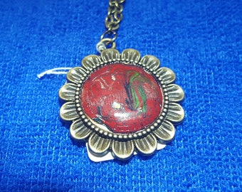 """Picturesque """" Flame Red """" 20 mm Pendant"""