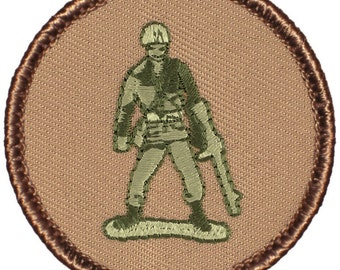 Toy Soldier Patch (145) 2 Inch Diameter Embroidered Patch