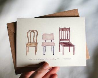 Chair Body Shape Greeting Card