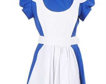 Alice In Wonderland Alice Blue Dress Cosplay Costumes