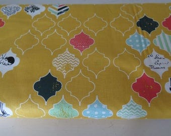 1 yard Riley Blake Fancy and Fabulous Yellow retro pattern, by fancy pants design, 100%quilt shop quality cotton fabric