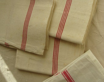 set of 4 rags old cotton linen