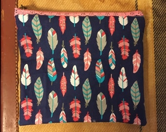 Feather Make up bag