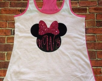 Disney Minnie Monogram customized tank
