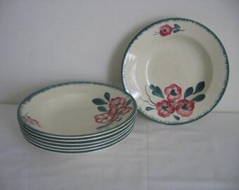 ONE Sarreguemines  Cereal /Soup /Dessert /Salad /Pasta Deep Plate / Assiette Creuse Maryvonne Design Circa 1920's 7 Available