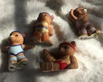 Bear figurines Teddy bears Home interior figurines Home interior figurines bears Bear figurines Ceramic figurines Collectible figurine