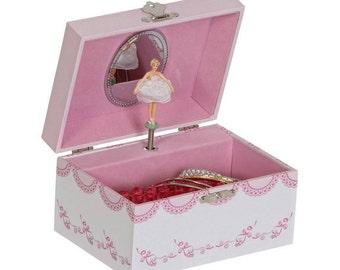 Personalized Musical ballerina jewelry box