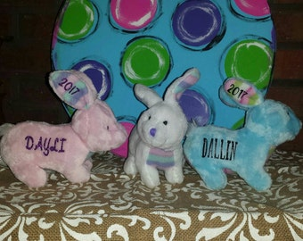 Personalized Bunny, Personalized Easter plush, Stuffed bunny, Monogrammed bunny, Babys 1st Easter, name bunny, Easter bunny, boy bunny,bunny
