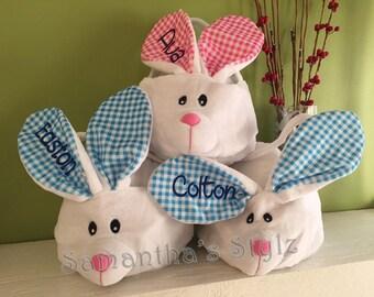 Personalized Easter Bunny Basket, Custom Bunny Basket, Monogrammed Basket,  Easter basket with name, Easter Gift, Easter basket