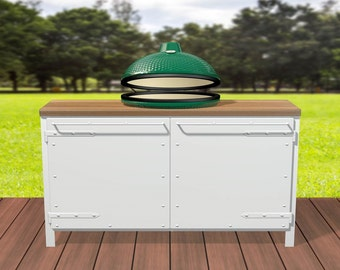 Outdoor cabinet with grill opening