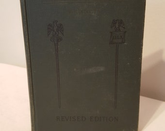 ON SALE, Vintage Book, Caesars Gallic War, Revised Edition, Charles Bennett, Books 1 and 4, Book in Latin, English Commentary, Small Book