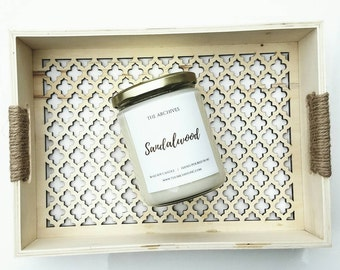 Sandalwood Soy Candle Handmade Candle - 16-oz. by The Archives Candles