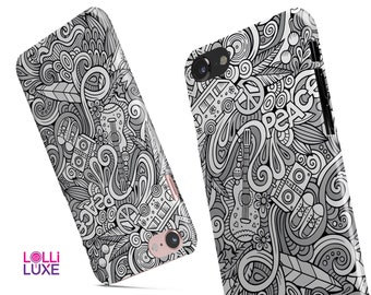 Hippie Dippie Doodles - LolliLuxe Snapit Case for the iPhone7 or7 Plus | 6/6 or 6/6s Plus | 5/5s/SE | Galaxy & More!
