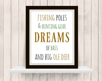 Hunting Dreams Nursery Decor Printable