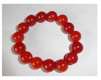 Peking Glass Beaded Bracelet. Vintage Far East 1950's