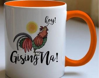 Gising Na! Mug | Philippine Art | Illustration | Filipino Art | Rooster Crowing | Sunrise | Coffee Mug | Tagalog