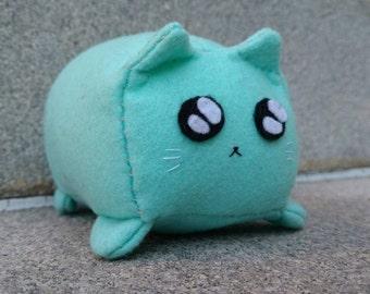 Seafoam Square Kitty Plush