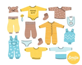 Baby clothes clipart  Etsy