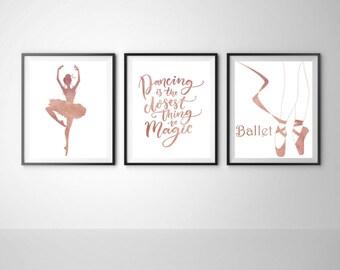 Ballet Wall Art ballerina wall decor personalized gift floral dress