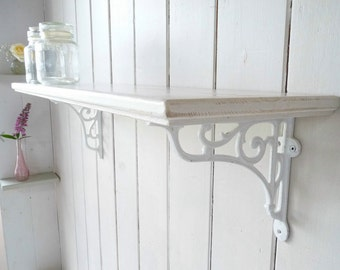 Vintage Style Shelf Solid Pine Country Home Single - Shabby Chic ( French Style)