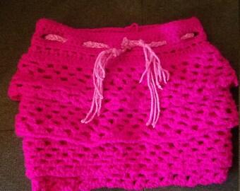 Adjustable Girl's Ruffeled Skirt