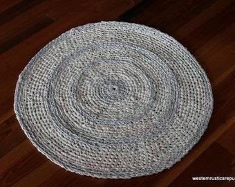 Round Handmade throw rug