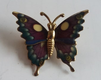 Vintage Purple Stunning Butterfly Brooch - Kitsch Retro Chic Spring 2017