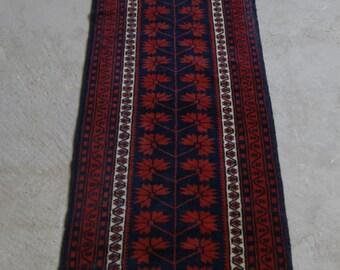 2'x8'11'' Runner Rug, Turkish Boho Rug, Anatolian Runner