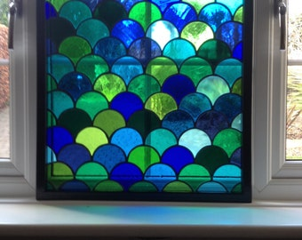 12 Colour 'Zamora' Stained Glass Window