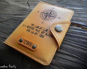 Leather Passport Cover/ Travel Passport wallet/Personalized Passport Case/Adventure Gift/Passport Wallet