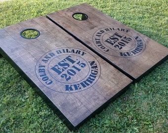 Custom Cornhole Boards Hand-Painted