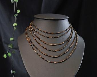 Ilona necklace - 6rangs Tiger eye