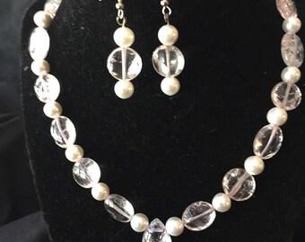 Rose Quartz & Pearls