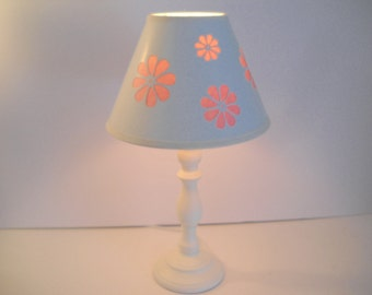 Girly Lamp with Pink Flowers
