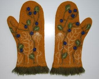 Wool  warm mittens_  Free Shipping_ 173