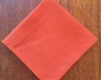 Mens Orange pocket square wedding gift for men groomsmen