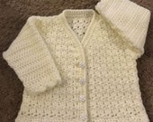 PDF DK Crochet Cardigan Pattern For Baby/Child. Sizes Birth to 6 Years. (1010)