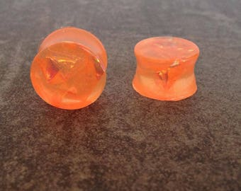 "ear plugs spreaders 16 mm: 5/8 ""resin orange"