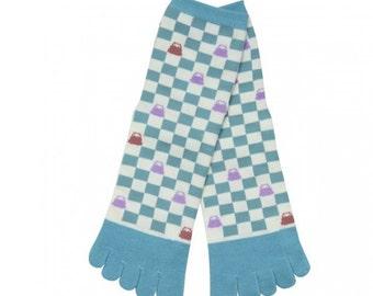 Light Blue Socks, Men Socks, Women Socks, Japanese Socks, Flip flops socks, Finger socks, Split toe socks, Five toe, Kimono, Tabi, Ninja